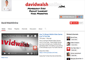 David Walsh Online YouTube Channel