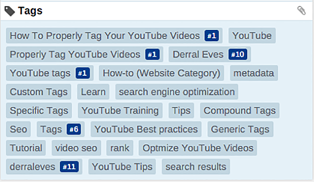 Example of how to use YouTUbe Video Tags