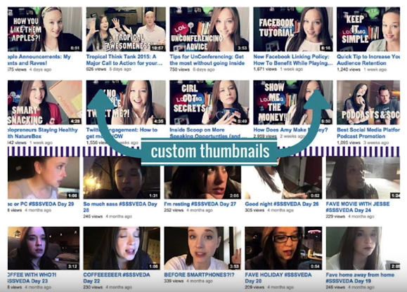 YouTube custom thumbnails example