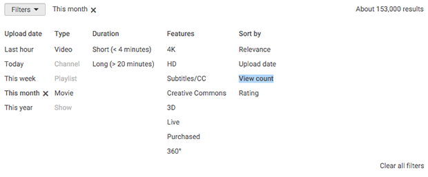 Use YouTube Search Filters for Video Idea Research